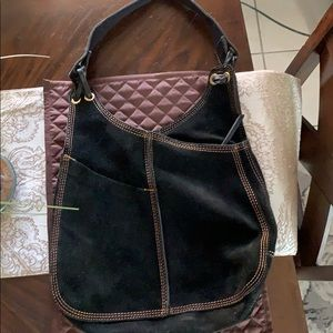 Lucky Brand Shoulder bag 🍀 black suede